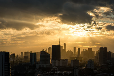 Bangkok view from Jasmine Resort Hotel