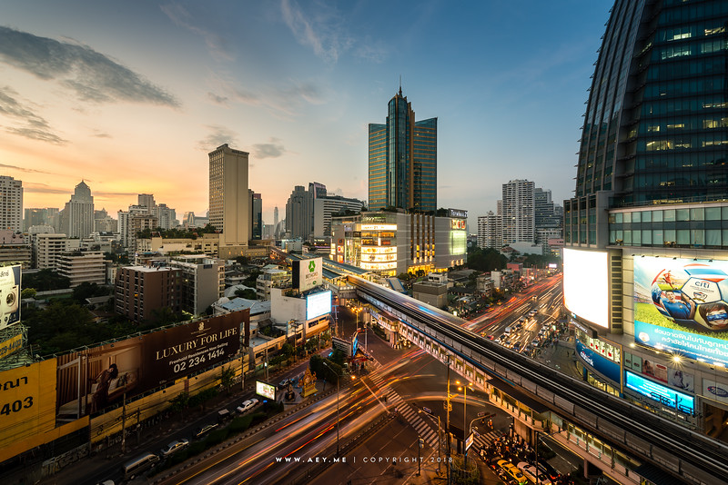 Asoke and Sukhumvit view from Exchange Tower