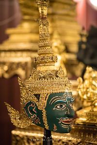 Khon Mask at Ruen Thai, Chulalongkorn University