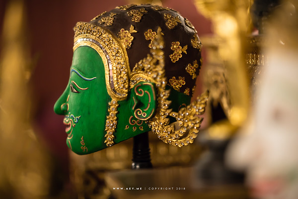 Vishvakarman, Ramayana Khon Mask at Ruen Thai, Chulalongkorn University