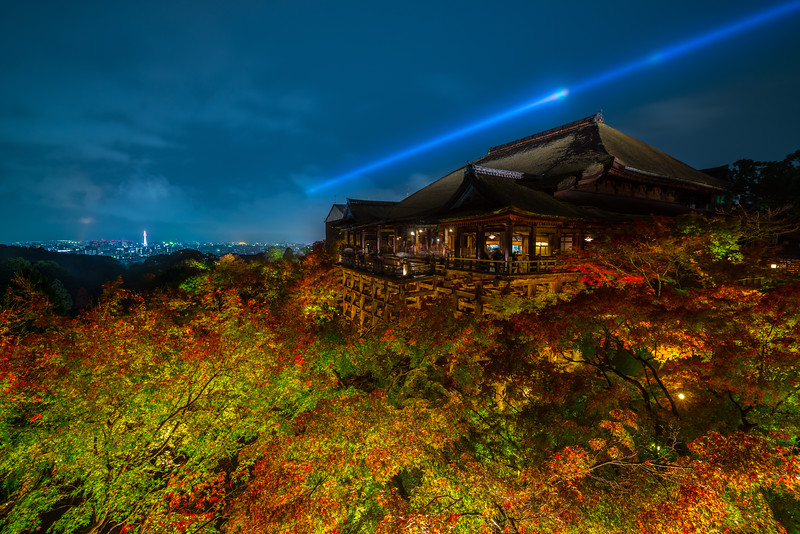 Night View Of Kiyomizu Dera