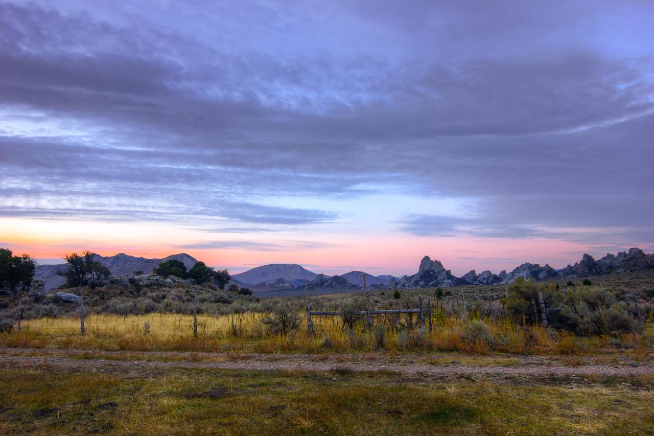 Sunrise in City of Rocks.