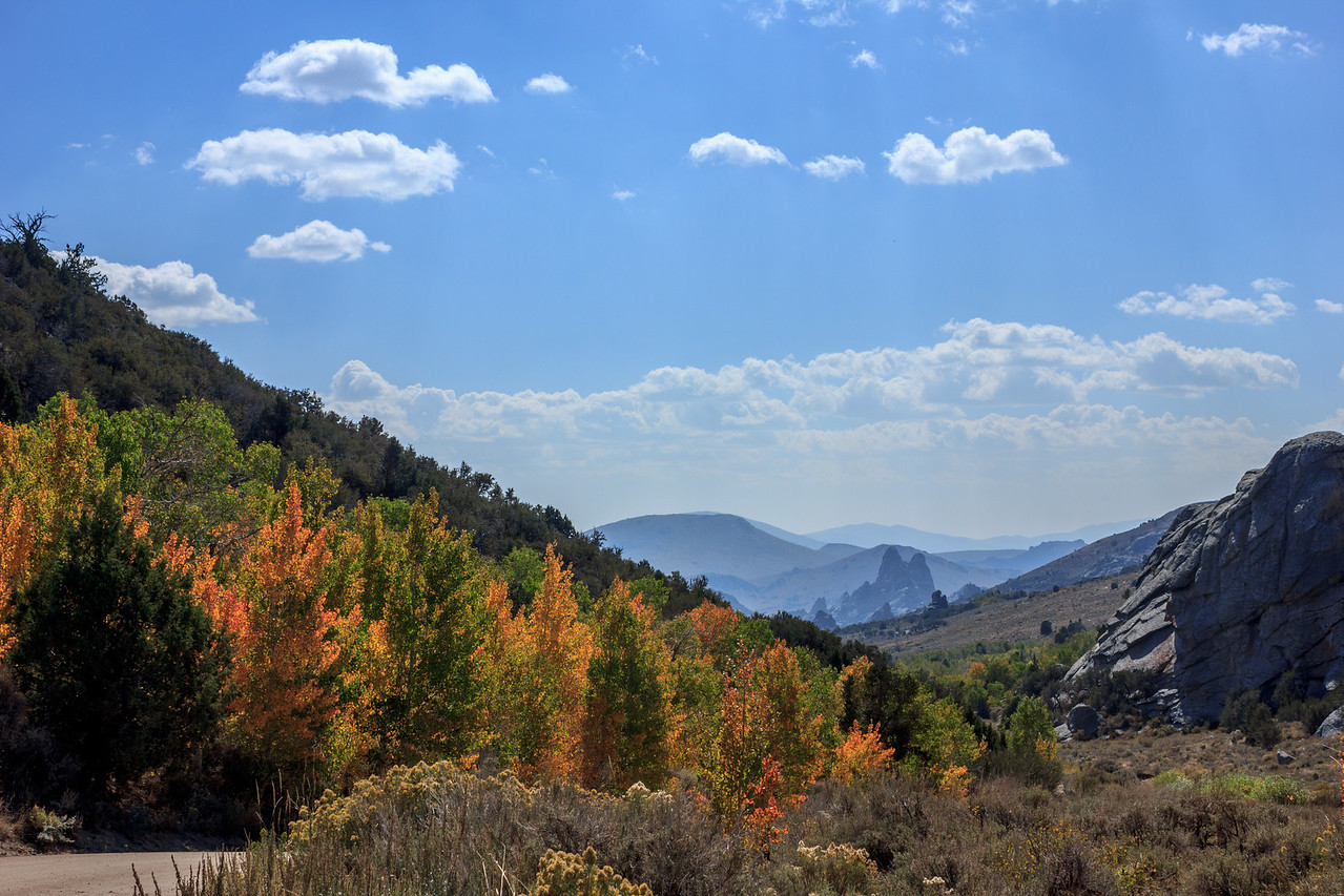 Autumn outside of City of Rocks