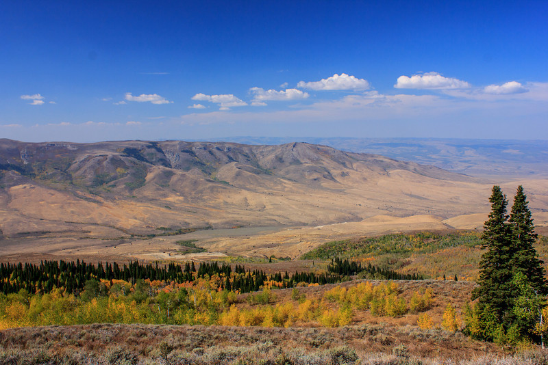 Looking out over Idaho.