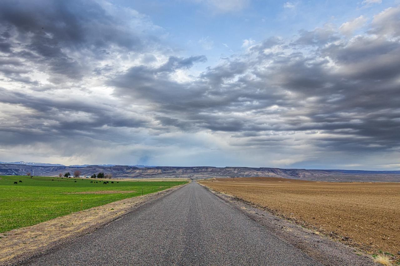 Small Road off of I-84 in Idaho
