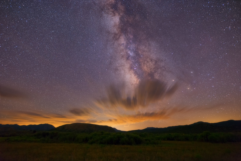 Milky Way over Clouds
