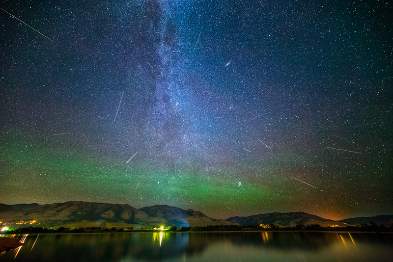 Perseids at Pineview Reservoir