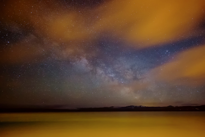 Milky Way in a Sea of Orange