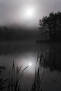 Misty Sunrise at SugarlandRun Pond 2