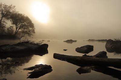 Misty Sunrise at River Bend