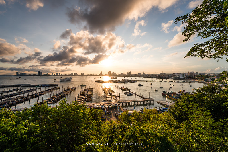 A Morning at Bali Hai Pier, Pattaya Bay, Chonburi