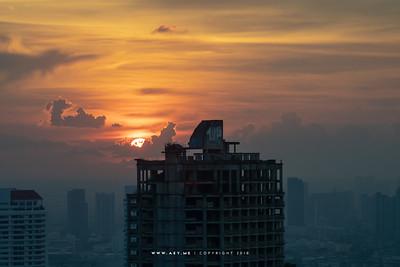 Sunset at Sathorn Unique Tower