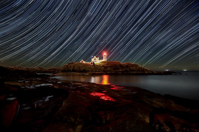 Star Trails Nubble