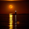Super Moon Whaleback Lighthouse, Portsmouth, New Hampshire