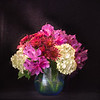 09-17-16 Fall Flowers in Blue Vase