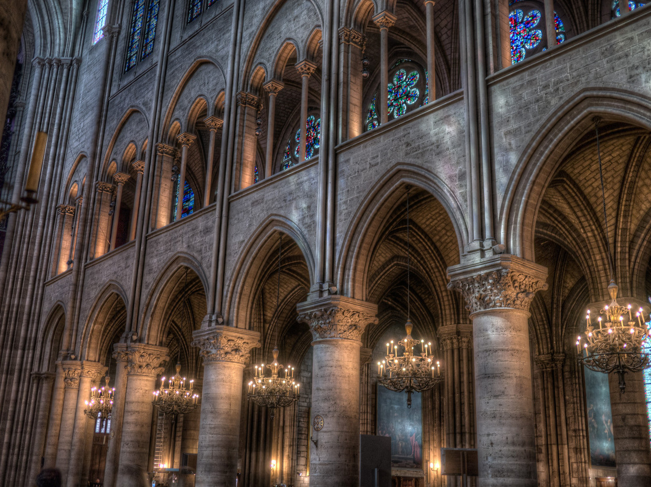Arches in Notre Dame