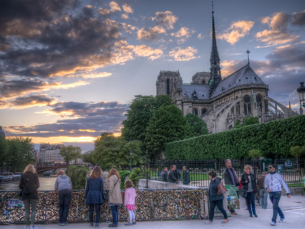 Sundown in Paris