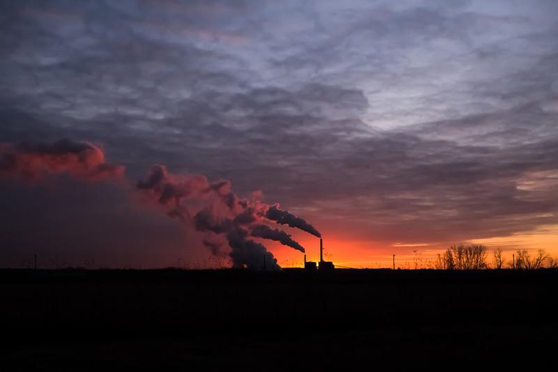 Smokestack Sunset
