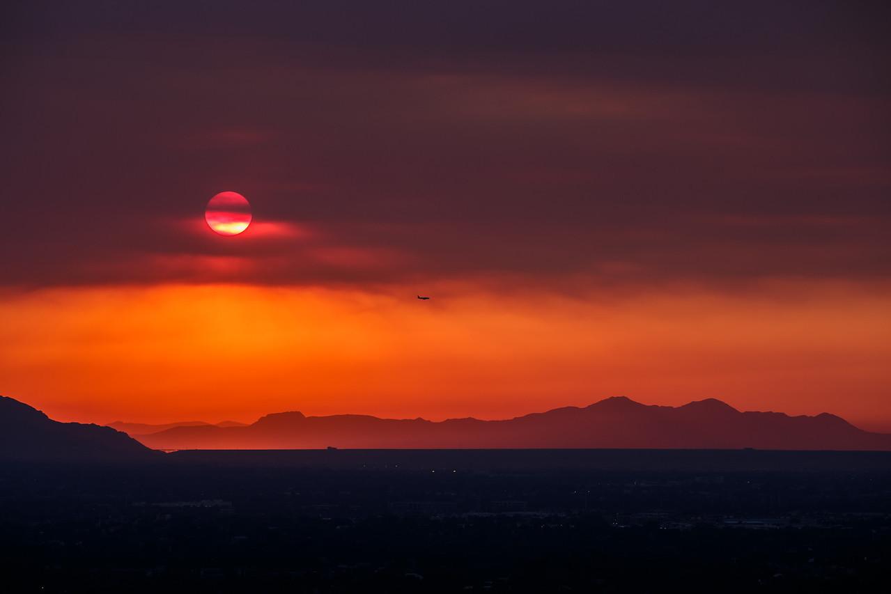 Smokey Sunset over Stansbury