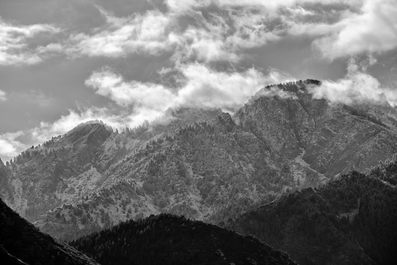 Mount Olympus After First Snow