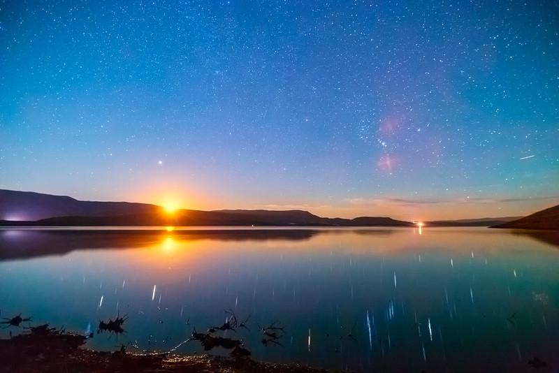 Moon Rise on Strawberry Reservoir