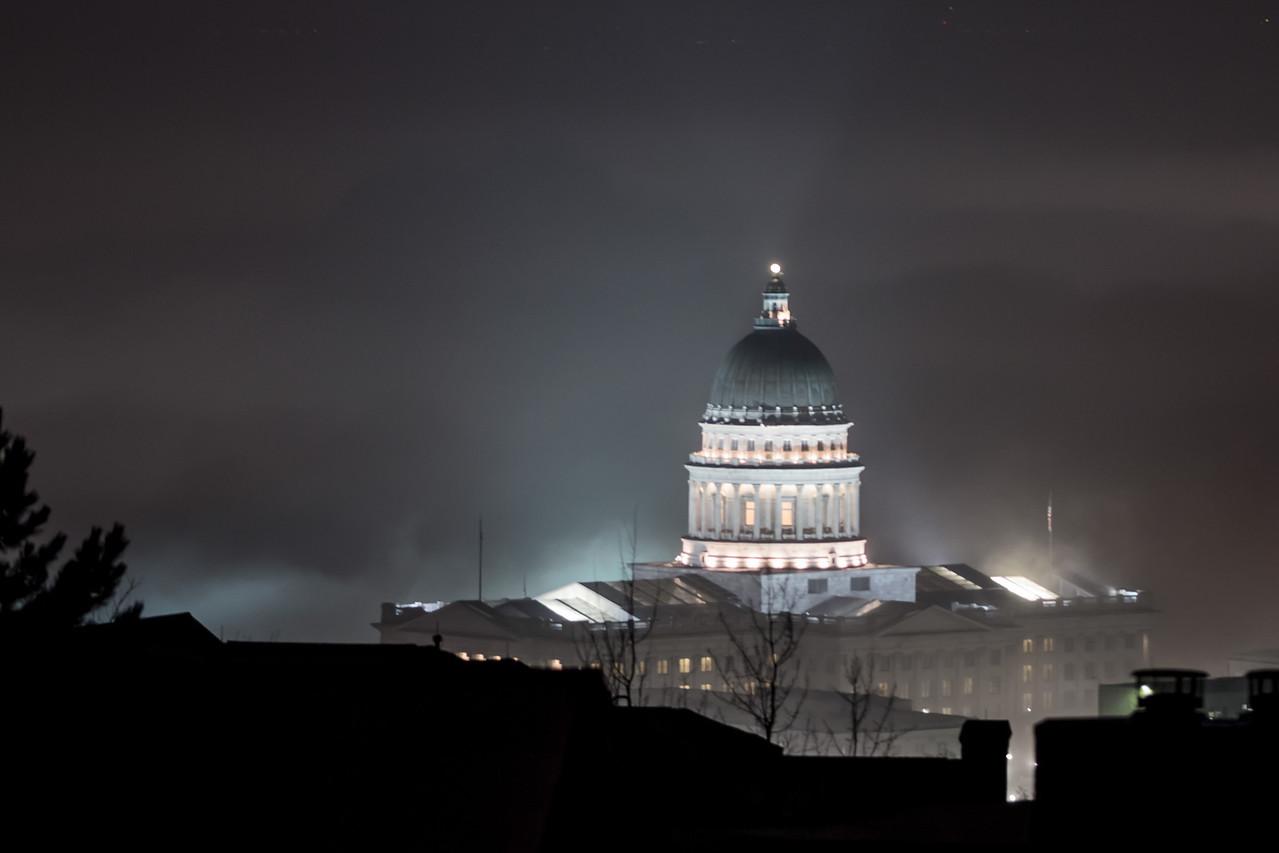 Capitol on a Hazy Night