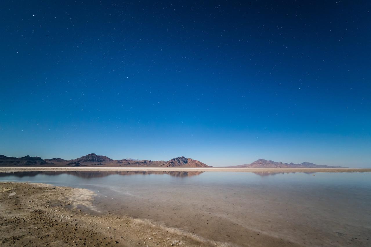 Salt Flats Under a Full Moon