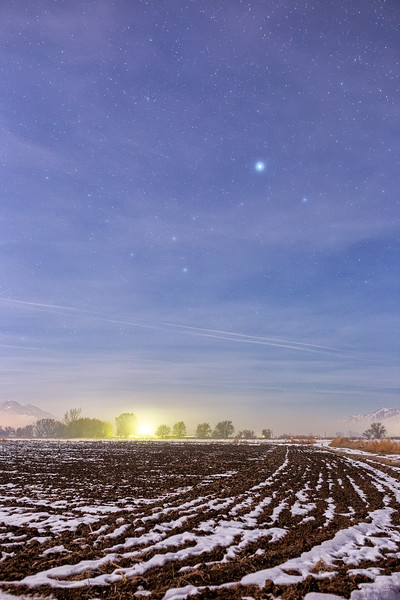 Plowed Field on a Cold Winter Night