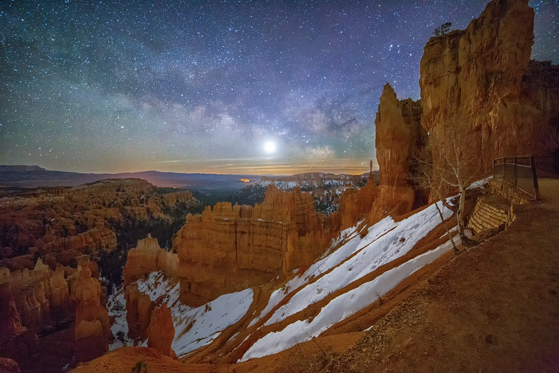 Navajo Trail at Night