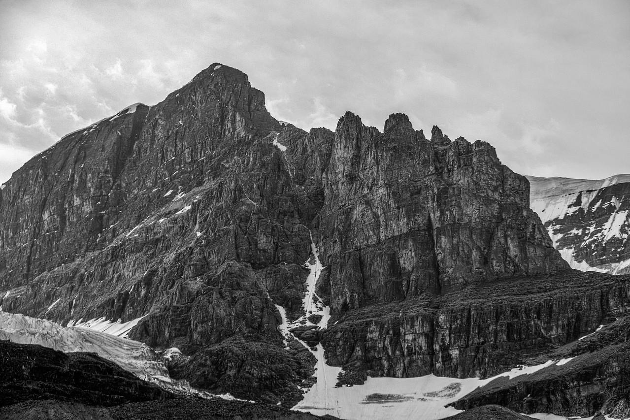 Mountain near Athabasca Glacier