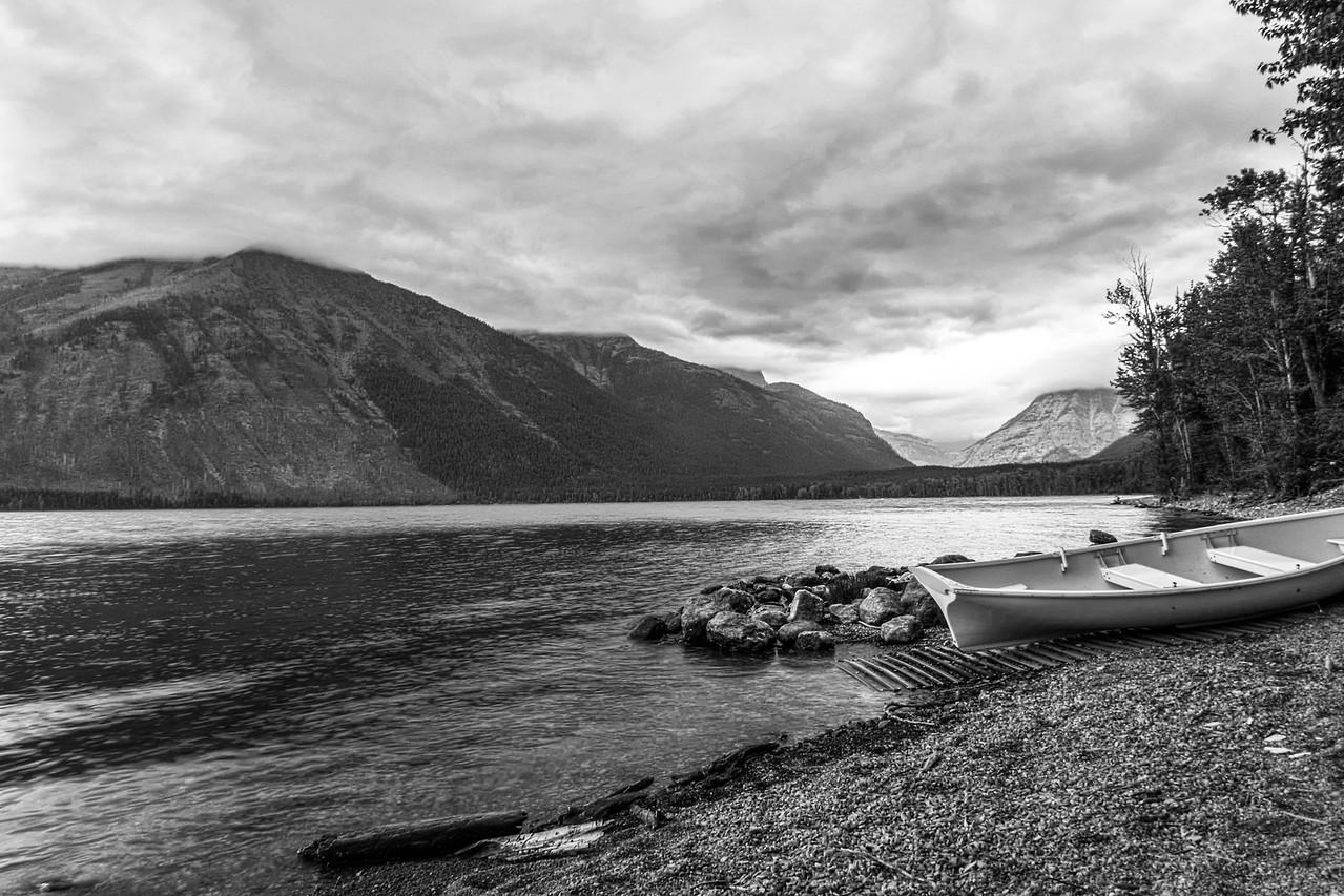 Cloudy Day on Lake McDonald