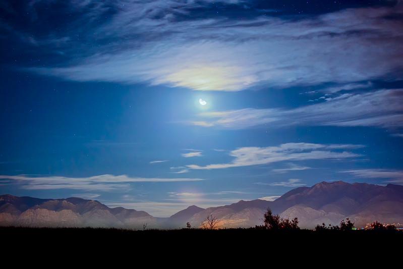 Moon over Ogden
