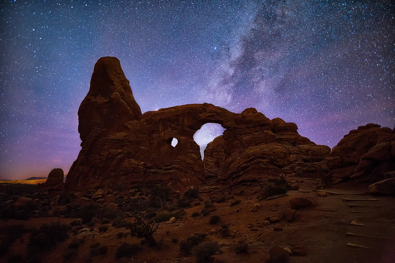 Turret Arch after Sunset