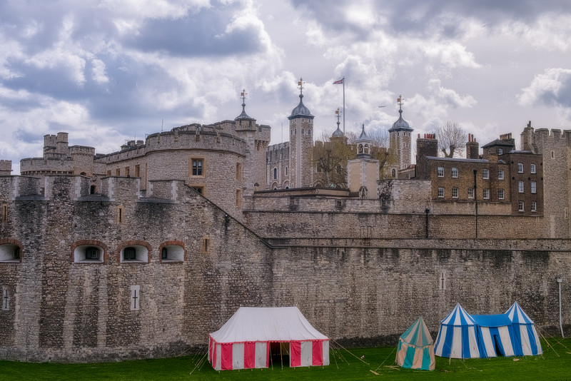 Tents in Front of the Tower of London