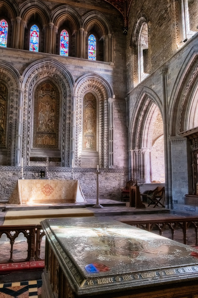 High Alter and Edmund Tudor's Tomb at St David's Cathedral