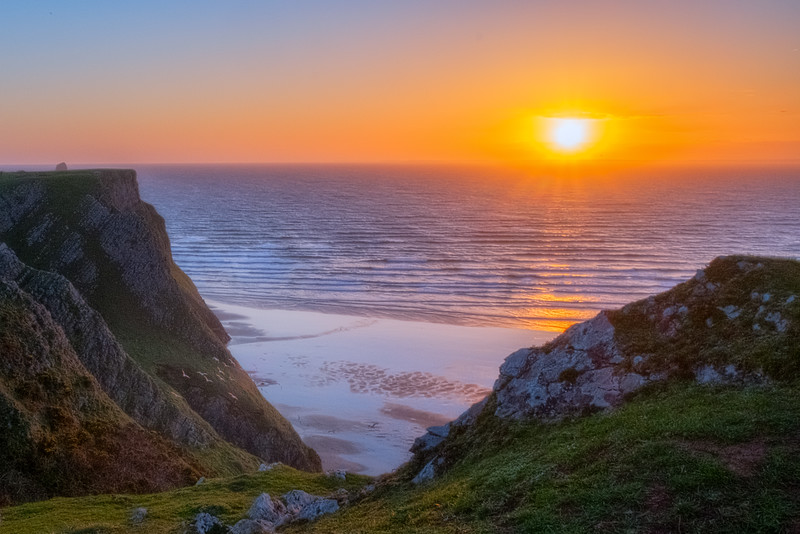 Sunset at Rhossili