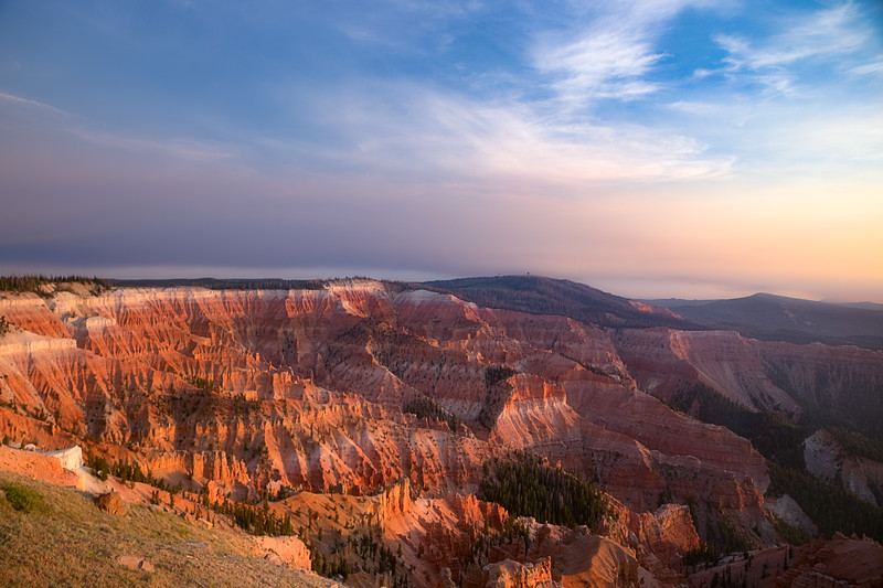 Smokey Sunset at Cedar Breaks