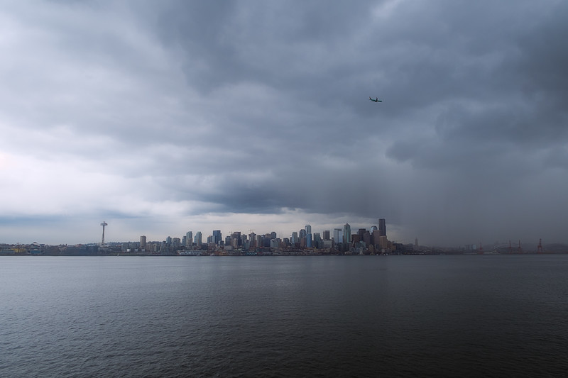 Rain over Seattle