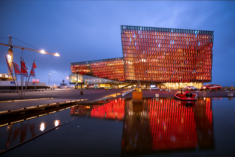 Harpa at Twilight