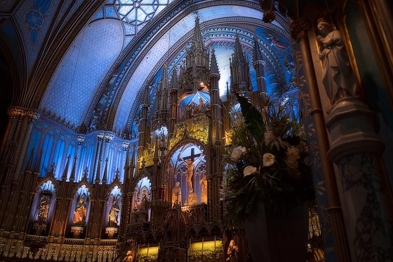 Notre Dame Basilica Montreal Side