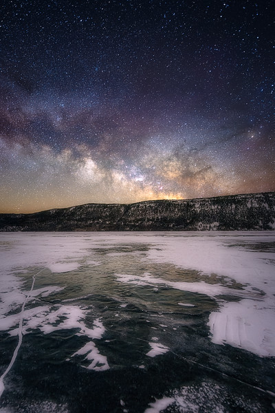 Winter Milky Way at Fish Lake