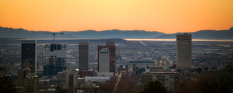 Downtown SLC in Winter