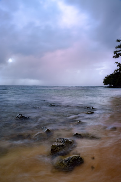 Stormy Evening at Puu Poa Beach
