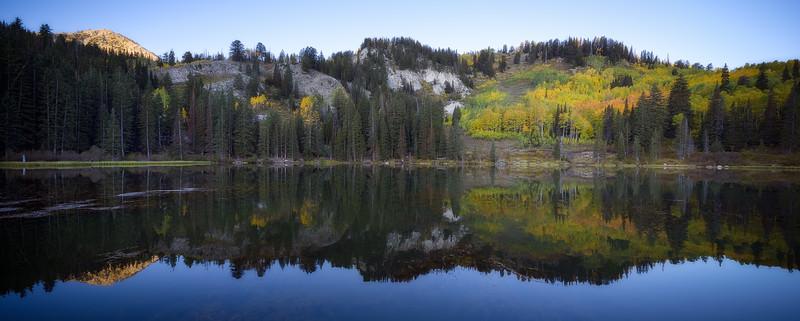 Silver Lake Morning Fall Reflection