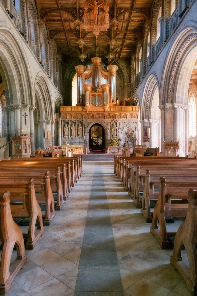 Inside St David's Cathedral