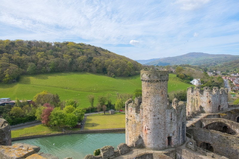 Conwy Castle and Fields