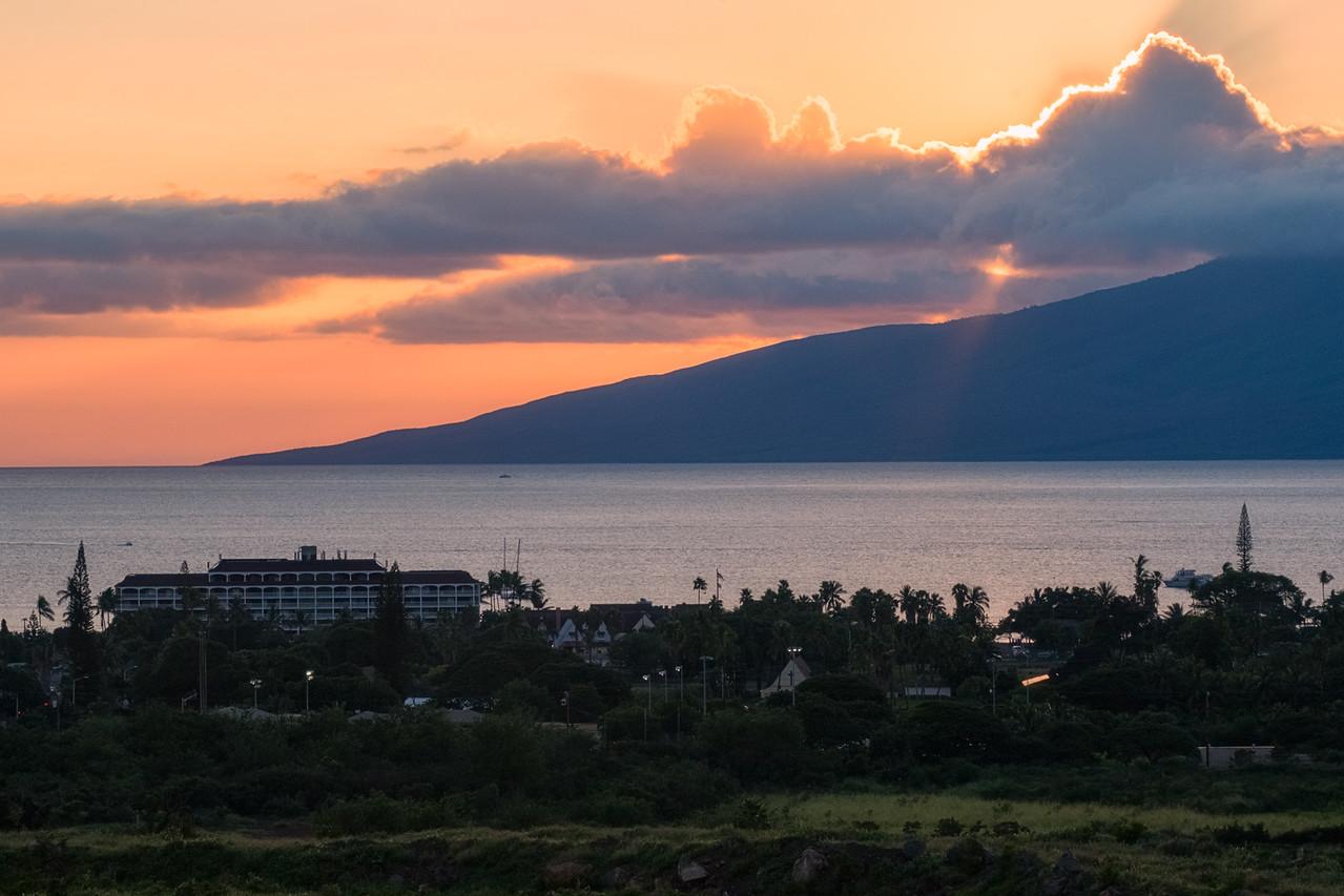 Sunset over Lahaina