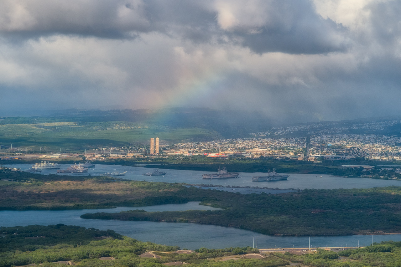 Rainbow over Pearl Harbor