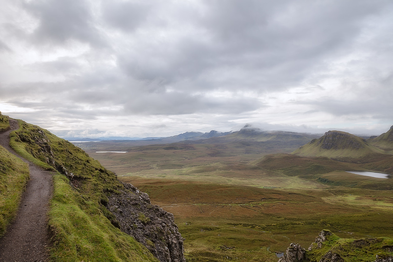 Looking down from the Quiraing trail