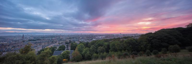 Sunrise Over Edinburgh